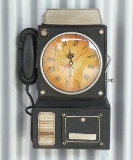 Schlüßelkasten Mit Uhr Retro Vintage Design Telefon Mit Verschluß - Vorschau 3