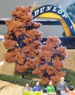 "2-STÜCK Jordan LAUB Bäume mit Fuß 11 & 18cm hoch ""ROT-BUCHEN"""