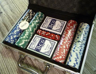 """Deluxe Poker Set Mit 200 Pokerchips Im Alu-koffer """"top QualitÄt"""" - Vorschau 2"""