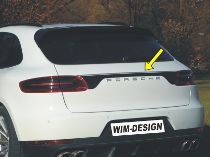 """HECKKLAPPE-DESIGN Aufkleber für Porsche MACAN """"Made in Germany"""""""