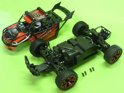 Rc Monster Truggy 30cm Mit 4wd Allrad + Akku Ferngesteuert 2, 4ghz - Vorschau 3