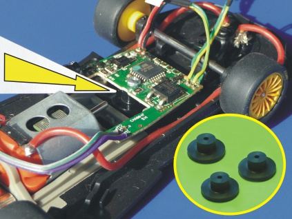 Slotcar HALTER 3er SET für Carrera Digitaldecoder für UMBAU an Slot it / NSR / FLY