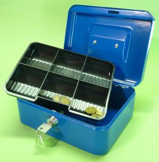2-stÜck Metall Geldkassette Länge 20cm Mit 6-fach MÜnzfach - Vorschau 3