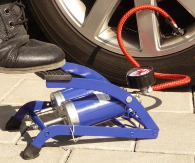 "Fußpumpe mit Doppelzylinder Luftpumpe Ballpumpe KFZ Fahrradpumpe ""TOP"""