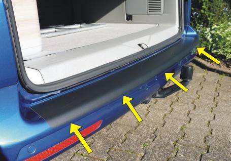 Aufkleber Kofferraumschutz Ladekantenschutz Für Vw Bus T5 In Top QualitÄt - Vorschau 3
