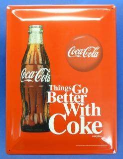 Retro Maxi Blechschild Coca-cola Flasche Größe 30x40cm GewÖlbt - Vorschau 3
