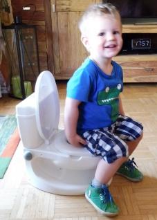Kinder WC Toilettentrainer mit realistischer SOUND-SPÜLUNG - Vorschau 2