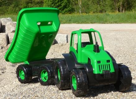 Kinder Traktor + AnhÄnger Gigant Sandkasten Länge 71cm In Top QualitÄt - Vorschau 2