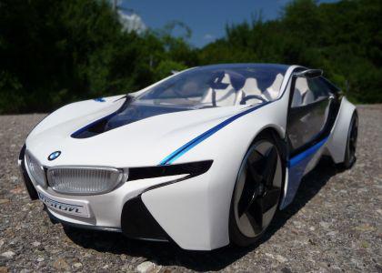 "RC BMW iVision mit LED ""Lizenz Modell"" 35cm 1:14 27MHz"