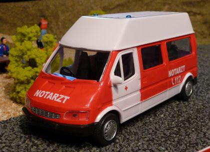 NOTARZT Daily Van TRANSPORTER 1:32 für Carrera Digital TOP DEKORATION
