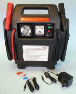 MOBILE STARTHILFE 900A Powerpack Starterkabel + Kompressor + Signalleuchte