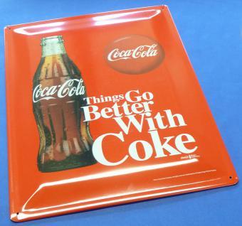 Retro Maxi Blechschild Coca-cola Flasche Größe 30x40cm GewÖlbt - Vorschau 1