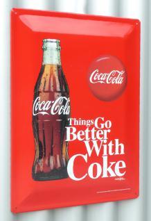 Retro Maxi Blechschild Coca-cola Flasche Größe 30x40cm GewÖlbt - Vorschau 4