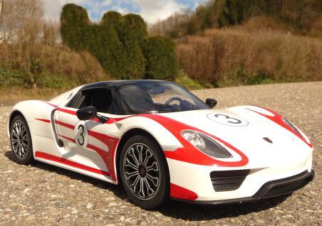 """RC Modell Porsche 918 Spyder mit LICHT Länge 33cm """"Ferngesteuert 40MHz"""""""