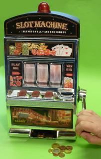 SLOTMACHINE Geld-Spielautomat in MAXI-Größe mit realistischer FUNKTION