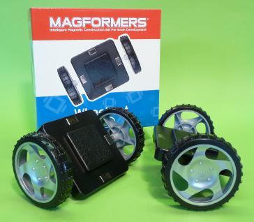 MAGFORMERS Magnetformen XL Räder mit Grundplatte 2er SET