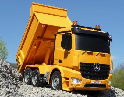 RC MULDENKIPPER LKW Mercedes mit 8 Funktionen 37cm Ferngesteuert 2, 4GHz