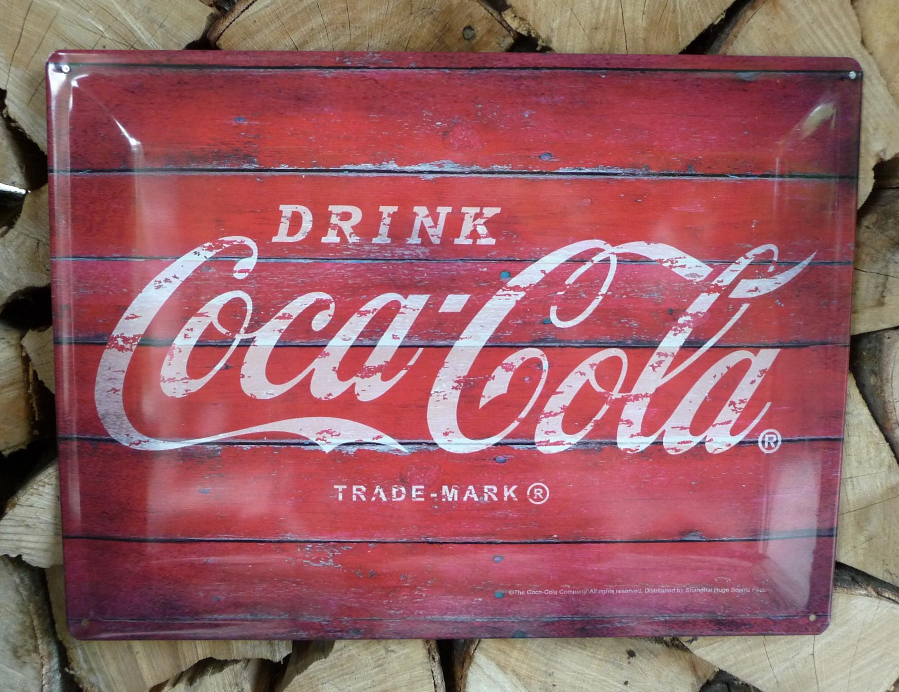 Retro Kühlschrank Von Coca Kaufen : Retro maxi blechschild drink coca colagröße 30x40cm gewÖlbt kaufen