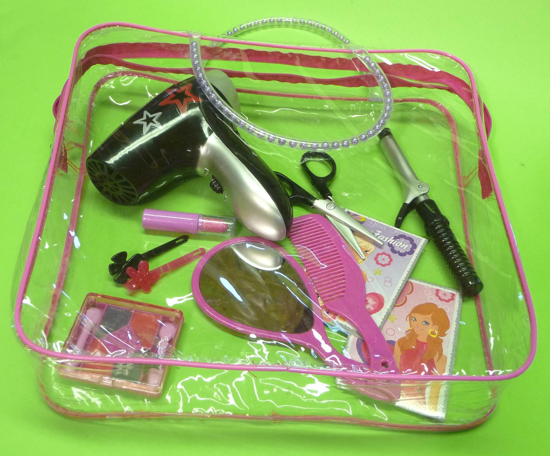 Kinder Friseur Beauty Spielzeug Set Mit Funktions-fÖn & Tasche ...
