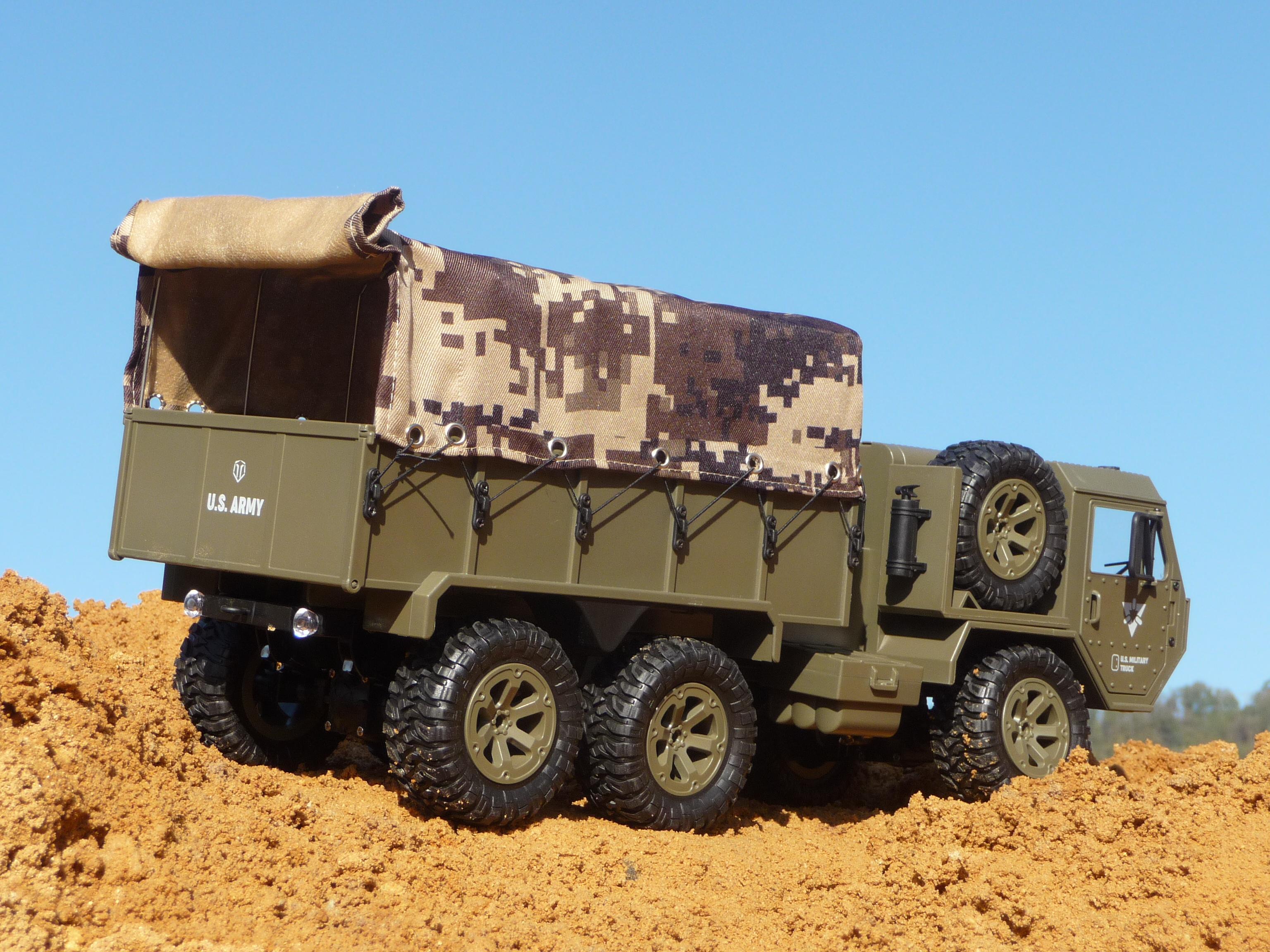 RC Militär US ARMY Truck mit LICHT /& AKKU Länge 47cm Ferngesteuert 2,4GHz 7071