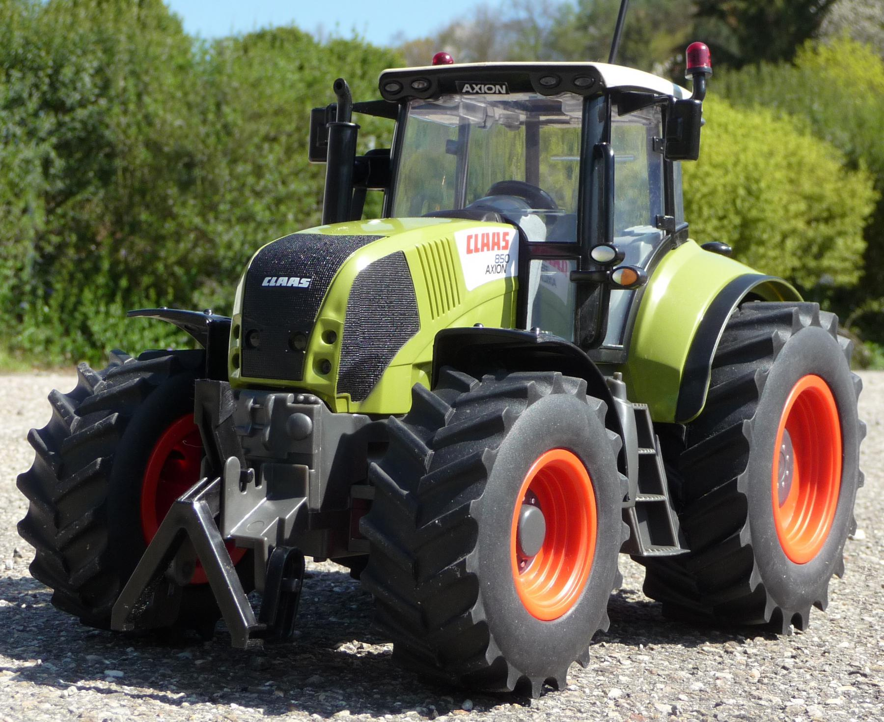 rc traktor xl claas axion 850 mit licht gr e 35cm ferngesteuert 27mhz kaufen bei wim shop