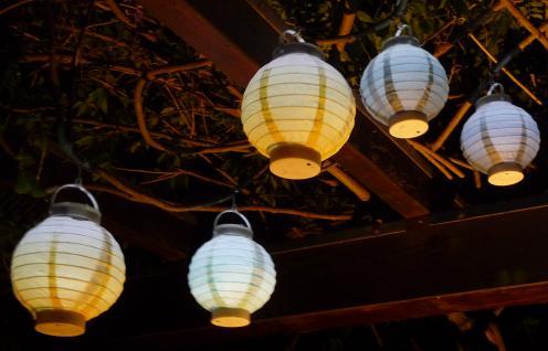 """5-STÜCK LED Party Lampion ø 15cm in 5-PASTELL-FARBEN """"Wunderschön"""""""