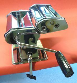 Profi Nudelmaschine Pastamaschine Chrom + Aufsatz In Top QualitÄt - Vorschau 2