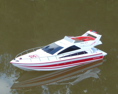 "RC Boot POWER-YACHT TOP-Speed 25Km/H Länge 70cm ""Ferngesteuert 2, 4GHz"""