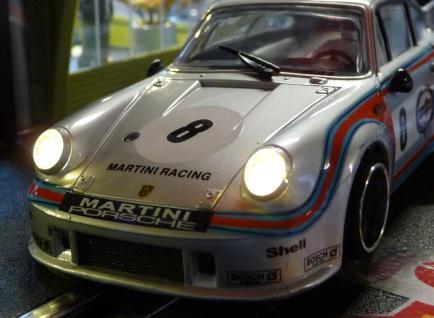 Slotcar LED Beleuchtung WARMWEISS Heck & Front mit STANDLICHT für Carrera