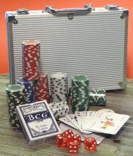 """DELUXE POKER SET mit 200 Pokerchips im ALU-KOFFER """"TOP QUALITÄT"""""""
