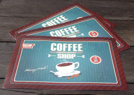 """12-stÜck Tischset Kaffee Retro 44x29cm Abwaschbar """"zum Sonderpreis"""" - Vorschau 2"""