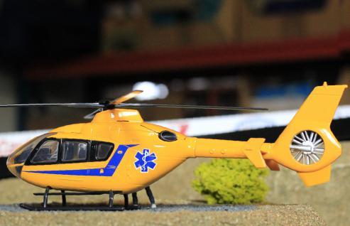 Hubschrauber Eurocopter Notarzt Deko Für Carrera Digital Servo Universal - Vorschau 2