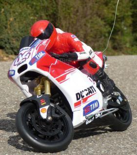 "RC Motorrad DUCATI DESMOSEDICI ""STONER"" Länge 23cm ""Ferngesteuert 27MHz"""