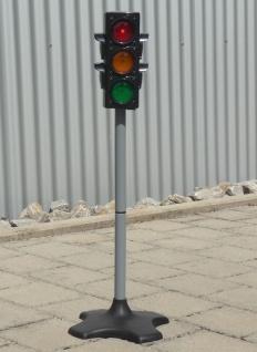 Kinder Verkehrs-AMPEL mit AUTOMATIK-LICHT & TÖNE in MAXI Höhe 72 cm