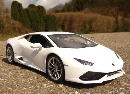 "RC Modell Lamborghini Huracan WEISS 32cm mit 27MHz ""Ferngesteuert"""