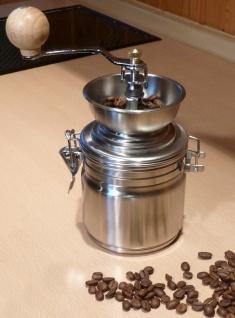 Kaffeemühle NOSTALGIE in wunderschönem RETRO-DESIGN aus EDELSTAHL