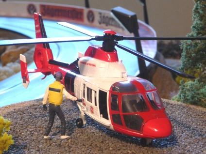 Hubschrauber DIE JOHANNITER Notarzt DEKO für Carrera Digital Servo UNIVERSAL