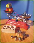 Kaufladen Metall Waage mit 7 Gewichten TOP