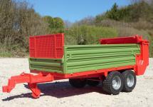 bruder STREU-BORDWAND ANHÄNGER Größe 43cm für RC Traktor in TOP QUALITÄT