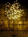 LED Baum 180 Blüten Lichterbaum WARMWEISS Höhe 150cm für innen/außen