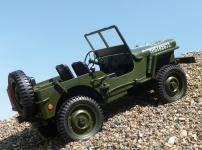 """RC MAXI Jeep WILLYS mit LICHT & AKKU Länge 34cm """"Ferngesteuert 2, 4GHz"""""""