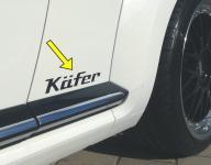 DESIGN Aufkleber für VW Beetle / Käfer 16-TEILIG in 5 VERSCHIEDENEN GRÖßEN