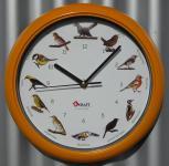 Vogel Uhr mit DEUTSCHEN heimischen Vögeln und ORGINAL Stimmen TOP QUALITÄT