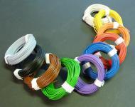 """10-Farben LITZEN KUPFER KABEL 0, 14mm² 1-adrig """"Länge 10 x 10 Meter"""""""