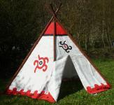 "Tipi Wigwam Indianerzelt mit Aluminium-Stangen 183 x 137cm ""Top Qualität"""