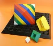 "16-TEILIG ZAUBER Triangle Puzzles + GRUNDPLATTE 27x27cm ""TOP QUALITÄT"""