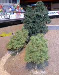 "LAUB Bäume 12 STÜCK 15cm HÖHE passend zu 1:32 ""MADE in GERMANY"""