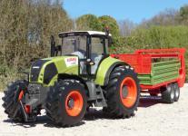 "RC Traktor CLAAS Axion 870 + Anhänger in XL Länge 72cm ""Ferngesteuert"""