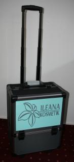 Kosmetik Reise Koffer Muster Beauty Case Alu Trolley mit Zahlenschloss & Rollen