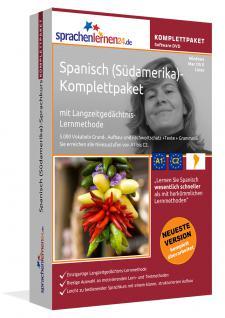 Sprachkurs Spanisch (Südamerika) Komplettpaket auf DVD